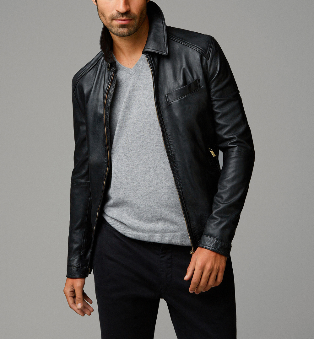 BLACK NAPPA JACKET
